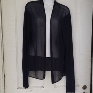 Eileen Fisher navy blue open front cardigan